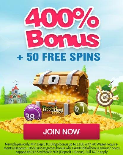 Robin Hood Bingo Welcome Bonus