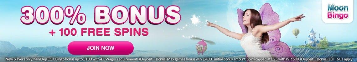 Moon Bingo Welcome Bonus
