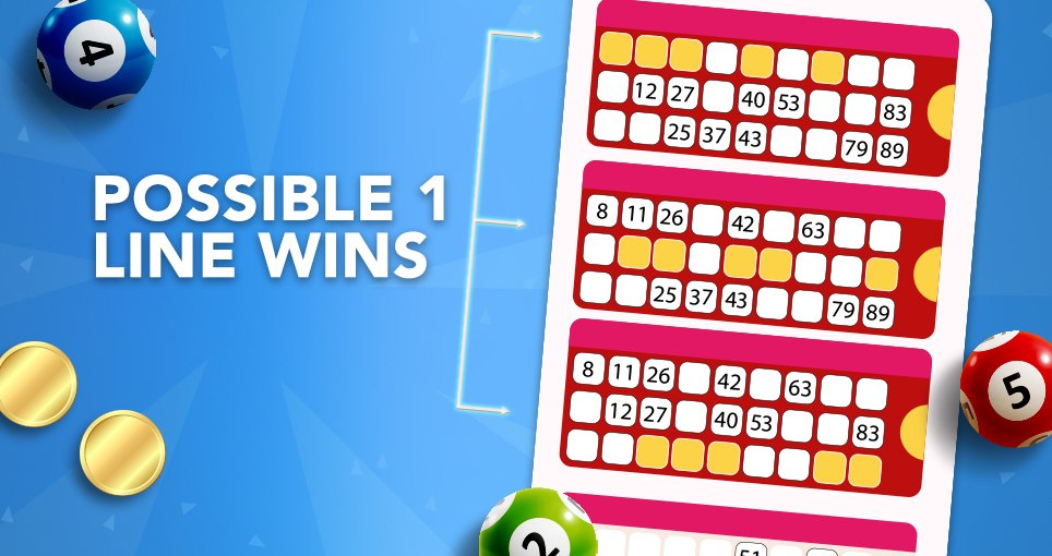 90 ball bingo 1 line win