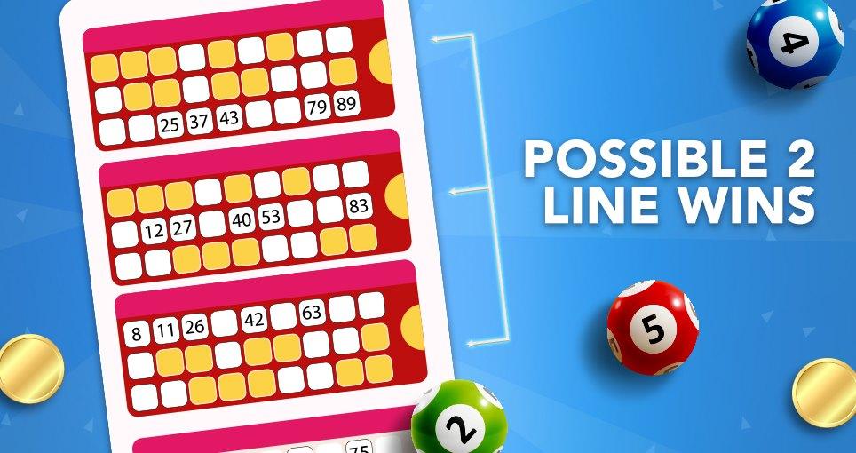 90 ball bingo 2 lines win