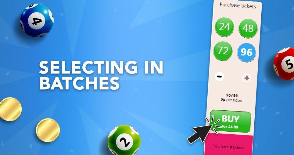 90 ball bingo batch select