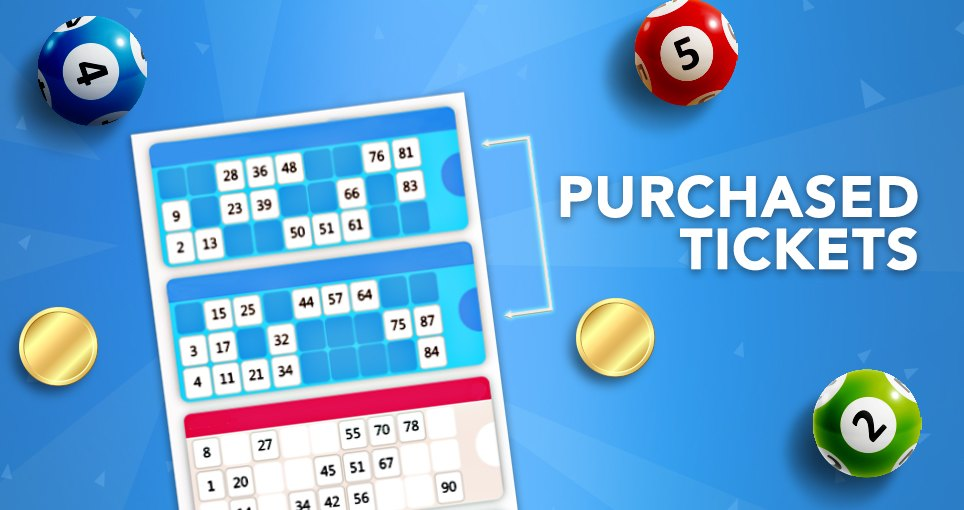 90 ball bingo purchased tickets